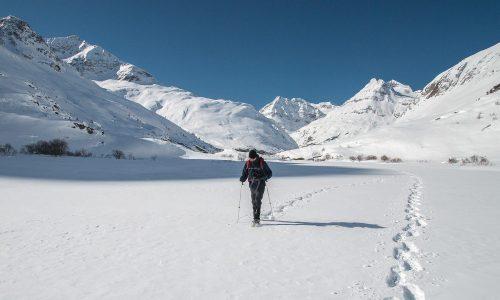 Richtige Gehtechnik mit Schneeschuhen